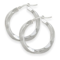 1 Inch Sterling Silver Hoop Earrings