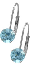 10 Karat White Gold CHOOSE YOUR STONE 5mm Leverback Earrings