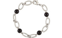 Stainless Steel Onyx Ball Bracelet