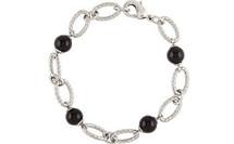 Stainless Steel Onyx Ball Bracelet
