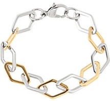 Gold Plated Stainless Steel Link Bracelet