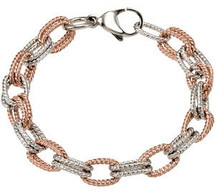 Rose Immerse Plated Stainless Steel Link Bracelet