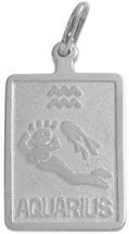 Sterling Silver Aquarius Zodiac Pendant