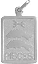 Sterling Silver Pisces Zodiac Pendant