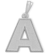 Sterling Silver Initial A Pendant