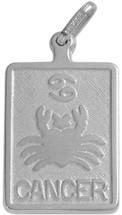 10 Karat White Gold Cancer Zodiac Pendant