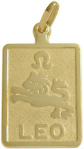10 Karat Yellow Gold Leo Zodiac Pendant