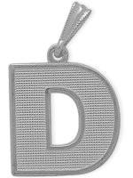 White Gold Block Initial D Pendant