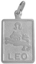 10 Karat White Gold Leo Zodiac Pendant