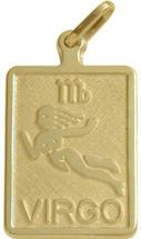10 Karat Yellow Gold Virgo Zodiac Pendant