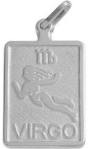 Sterling Silver Virgo Zodiac Pendant