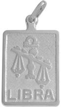Sterling Silver Libra Zodiac Pendant
