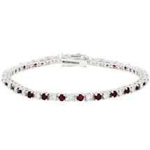 Ladies 10 Carat Created Ruby Tennis Bracelet