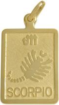 10 Karat Yellow Gold Scorpio Zodiac Pendant