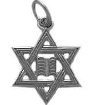 White Gold Small Star of David Jewish Pendant