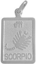 Sterling Silver Scorpio Zodiac Pendant