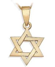 14 Karat Religious Yellow Gold High Polish Star of David Jewish Pendant
