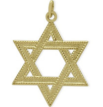 14 Karat Yellow Gold Small Star of David Pendant