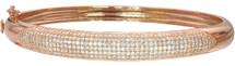 Rose Plated Pave Set 8mm Bangle Bracelet
