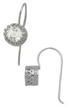 Ladies 1.00 tcw. White Topaz Dangle Earrings