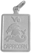 Sterling Silver Capricorn Zodiac Pendant