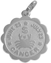 Round Sterling Silver Gemini Zodiac Pendant with Chain