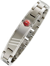 12mm Adjustable Stainless Steel Medical ID Bracelet