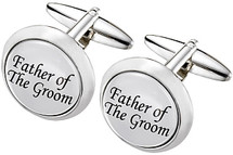Men's Stainless Steel GROOM Cuff Links