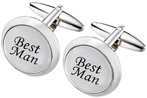 Men's Stainless Steel FATHER OF THE BRIDE Cuff Links