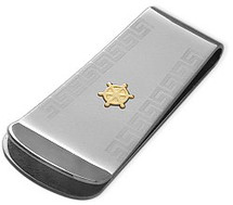 Men's 18 Karat & Steel High Polish Money Clip