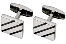 Men's Matte Titanium Cufflinks
