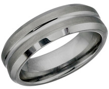 7mm Multi-Texture Tungsten Carbide Ring