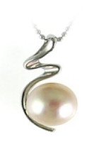 Sterling Silver 7mm-7.5mm Freshwater Pearl Pendant