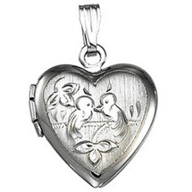 Sterling Silver Heart with Birds Locket
