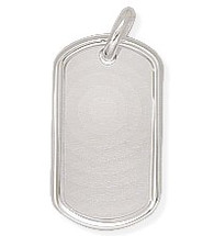 Large Sterling Silver Dog Tag Pendant