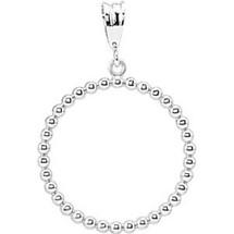 Sterling Silver Circle Ball Pendant