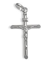 Small 14 Karat White Gold Religious Crucifix