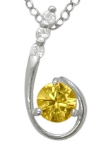 Sterling Silver Citrine Pendant
