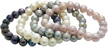 9-10mm Freshwater Pearl Stretch Bracelet Set