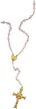 Yellow Gold Filled Rose Quartz Bead Rosary
