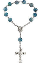 Madonna Meditation Rosary with Kyanite Beads