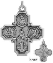 Sterling Silver Religious Large Saint Cross