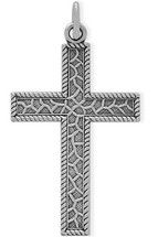 Detailed Sterling Silver Religious Cross
