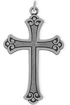 Medium Sterling Silver Religious Detailed Cross