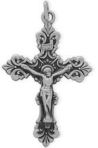 Stylish Sterling Silver Religious Crucifix