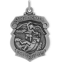 Sterling Silver St. Michael Religious Medal Medallion