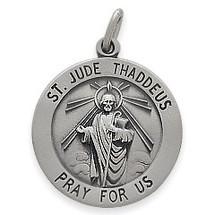 Sterling Silver St. Jude Thaddeus Religious Medal Medallion