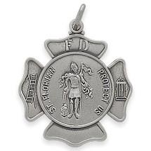Sterling Silver Saint Florian Religious Medal Medallion