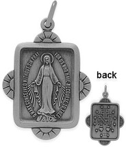Sterling Silver Religious Mary Medal Medallion