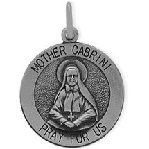Sterling Silver Mother Cabrini Medal Medallion